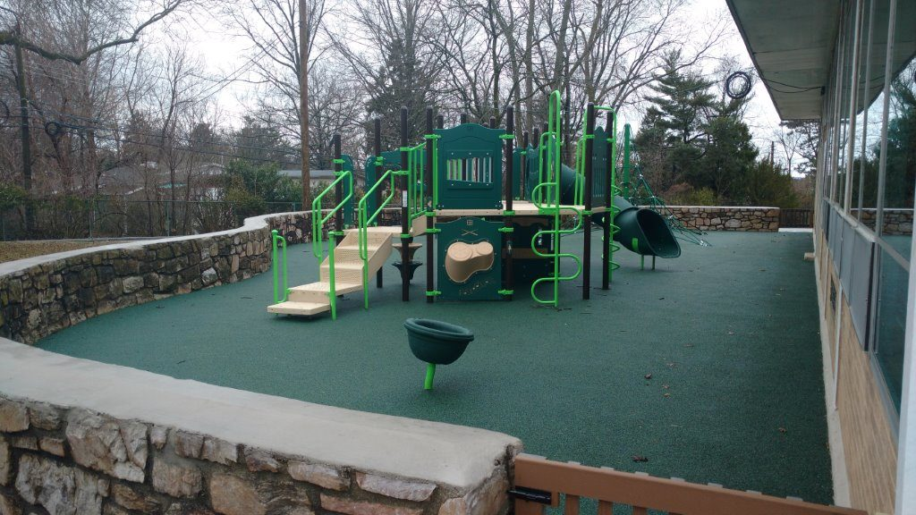 playground on green floor surface