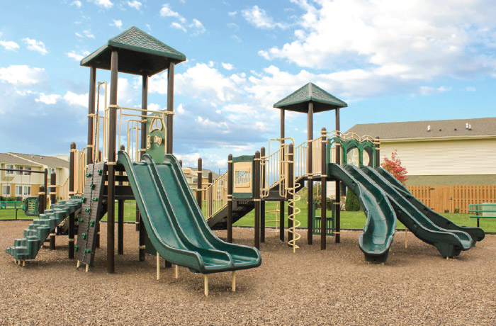 playground in mulched area