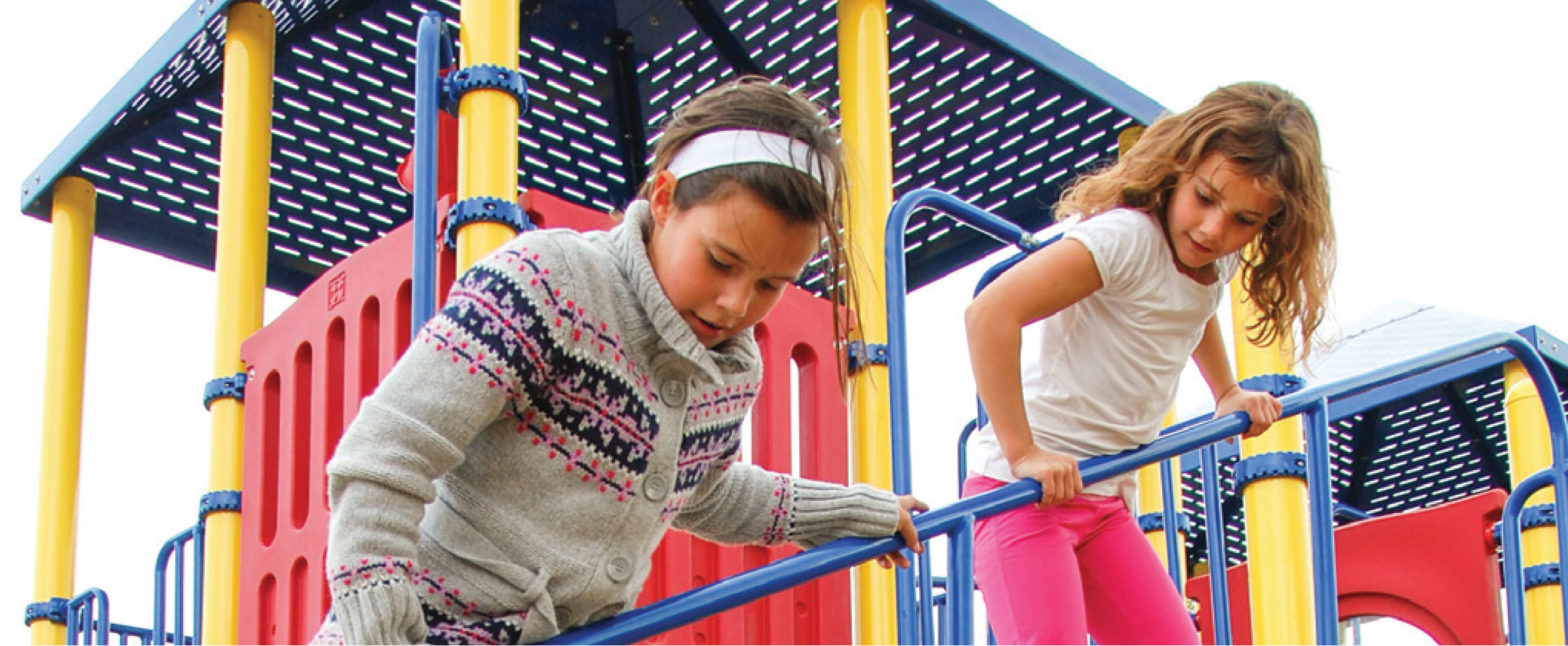 girls playing on playground